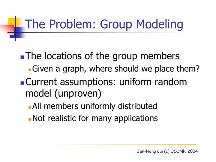 The Problem: Group Modeling
