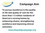 campaign aim