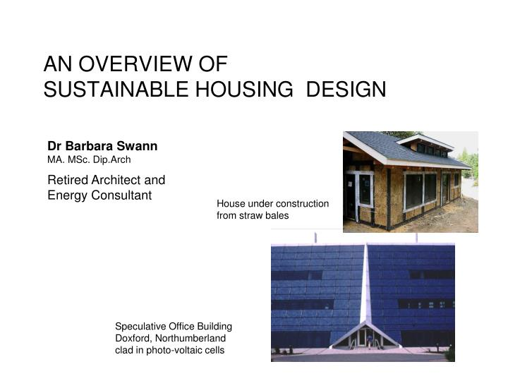 an overview of sustainable construction