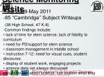 science monitoring visits