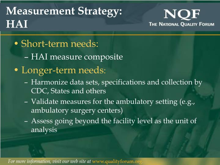 Measurement Strategy: