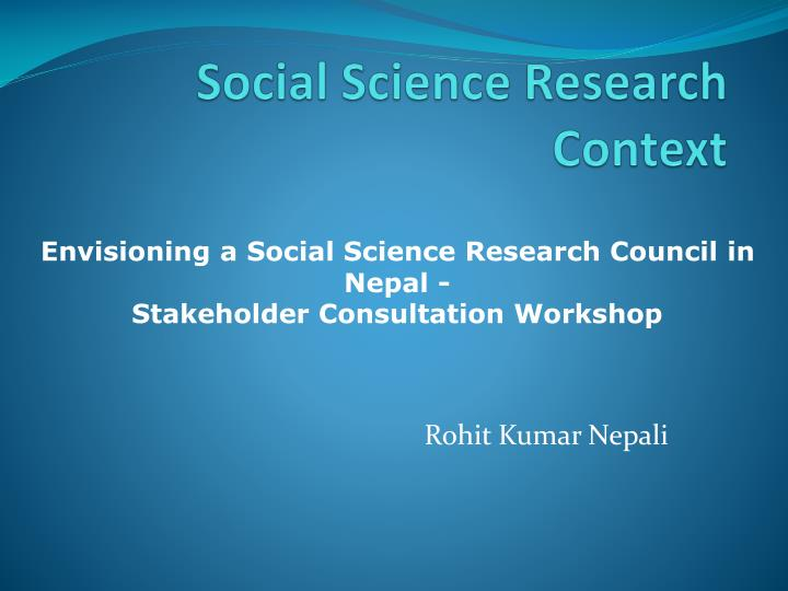 social science research context n.