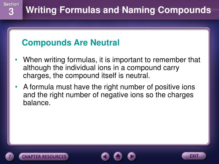 Compounds Are Neutral