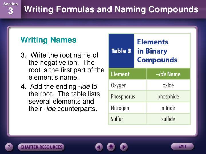 Writing Names