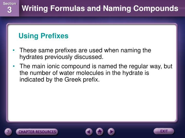 Using Prefixes