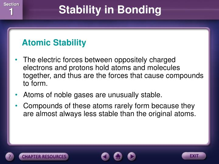 Atomic Stability