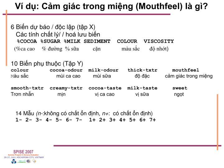 Ví dụ: Cảm giác trong miệng (Mouthfeel) là gì?