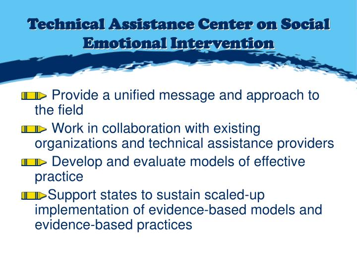 Technical Assistance Center on Social Emotional Intervention