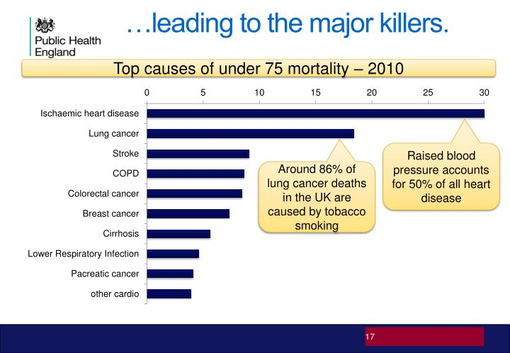 Top causes of under 75 mortality – 2010