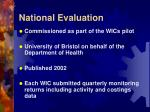 national evaluation