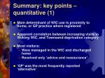 summary key points quantitative 1