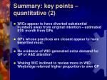 summary key points quantitative 2