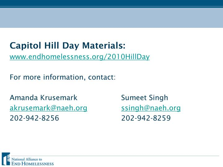Capitol Hill Day Materials: