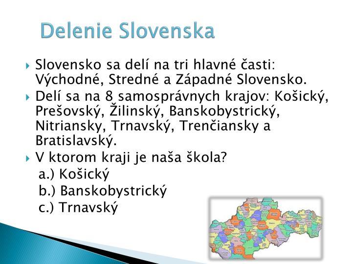 Delenie Slovenska