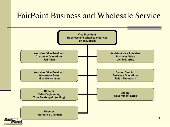 FairPoint Business and Wholesale Service