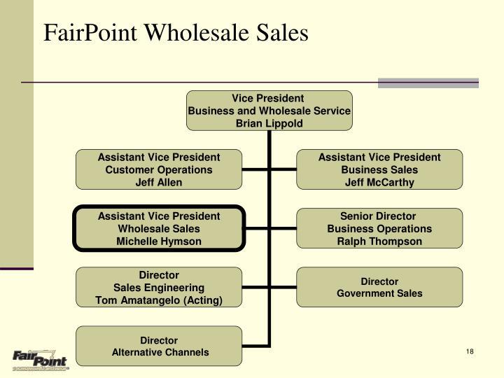 FairPoint Wholesale Sales