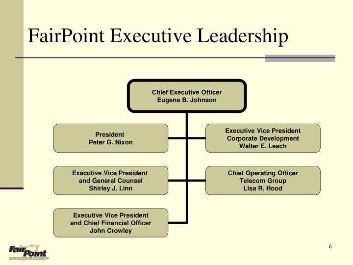 FairPoint Executive Leadership