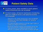 patient safety data