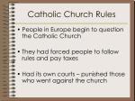 catholic church rules