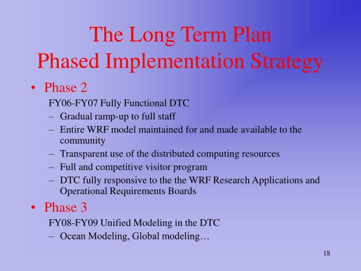 The Long Term Plan