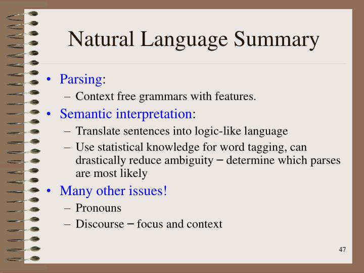 Natural Language Summary