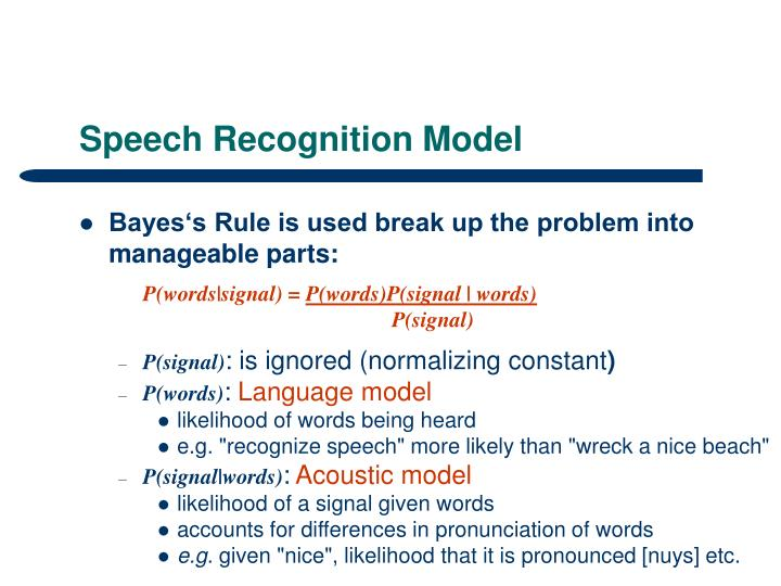 Speech Recognition Model