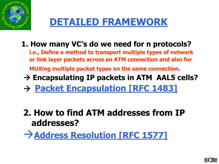 1. How many VC's do we need for n protocols?