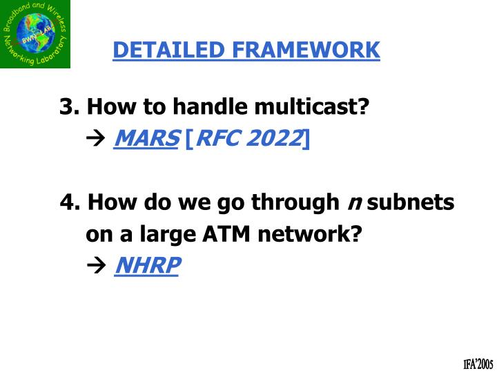 3. How to handle multicast?