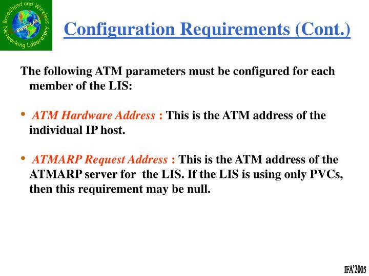 Configuration Requirements (Cont.)