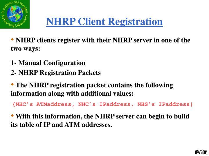 NHRP Client Registration