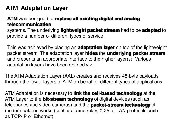 ATM  Adaptation Layer