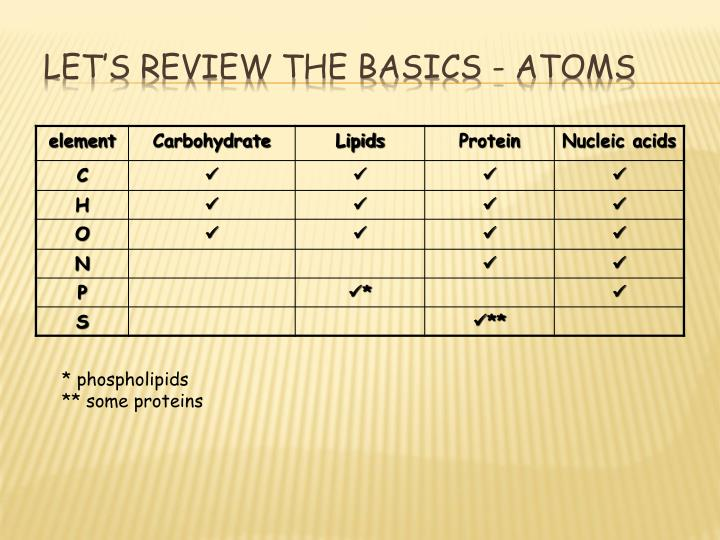 Let's review the basics - atoms