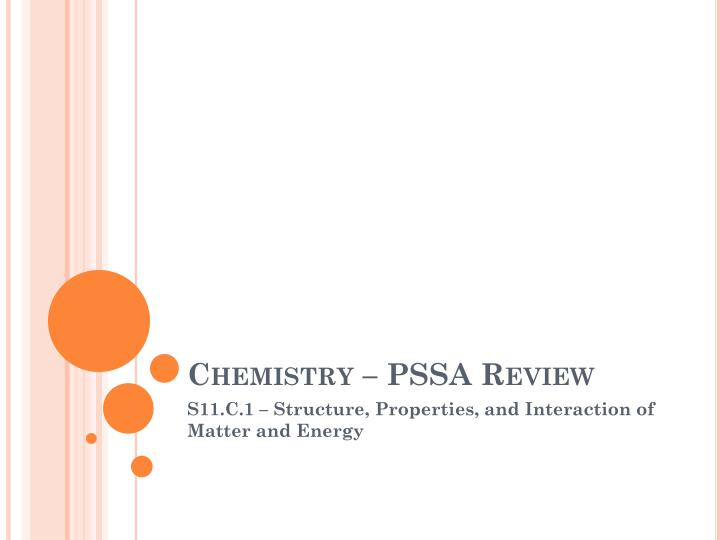 Chemistry pssa review