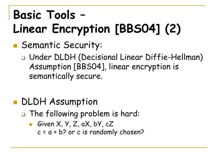 Basic Tools –
