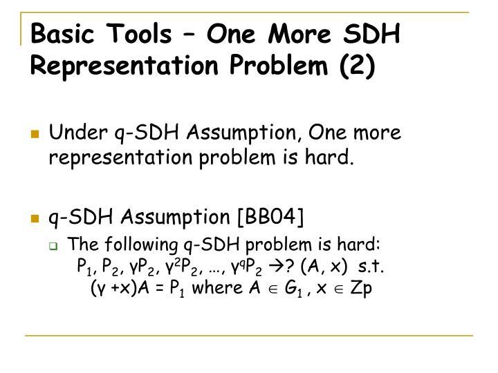 Basic Tools – One More SDH Representation Problem (2)