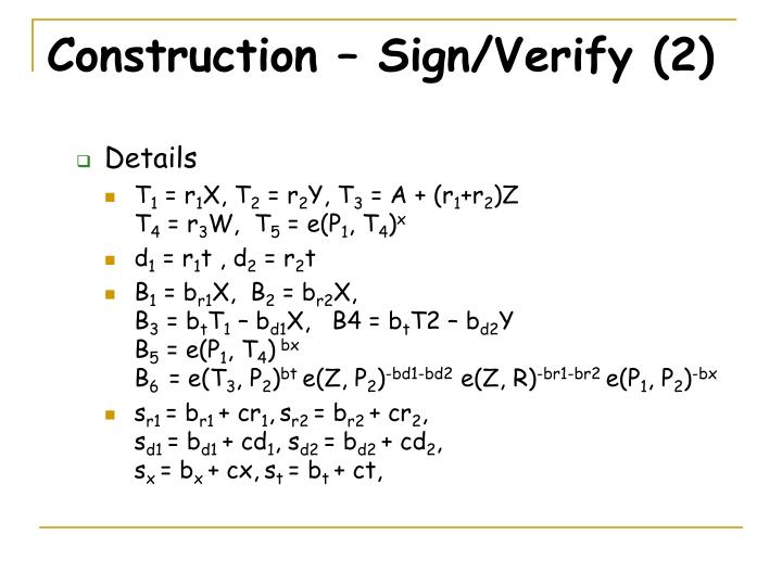 Construction – Sign/Verify (2)
