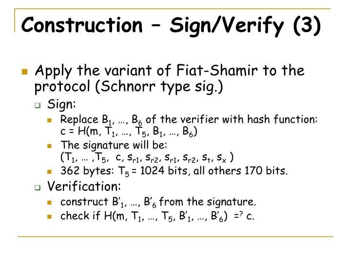 Construction – Sign/Verify (3)