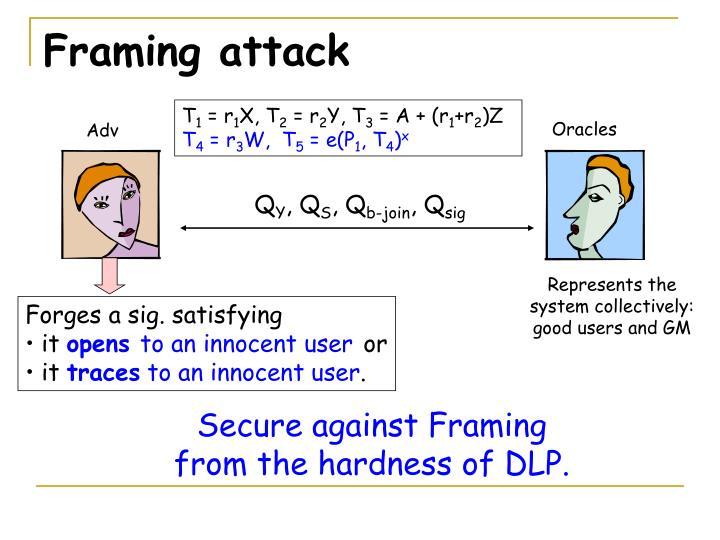 Framing attack