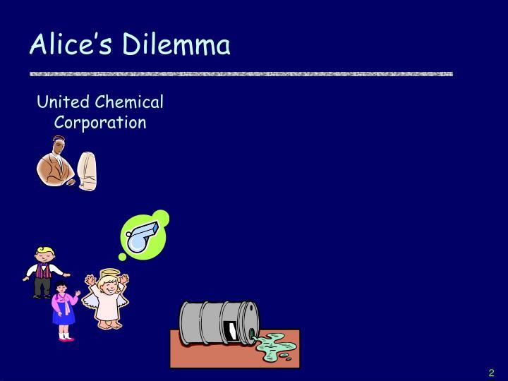 Alice s dilemma