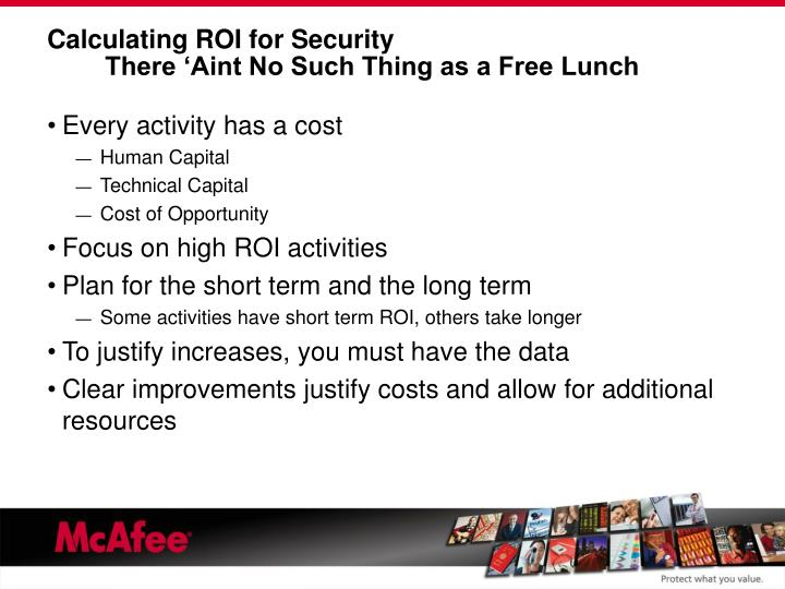 Calculating ROI for Security