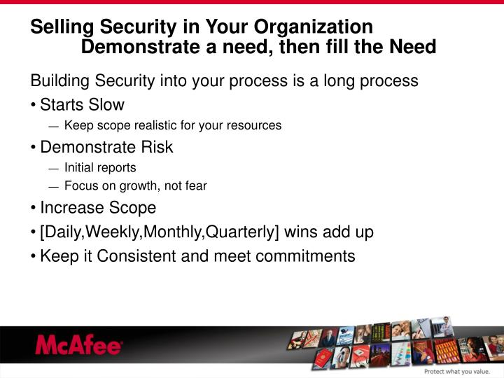 Selling Security in Your Organization