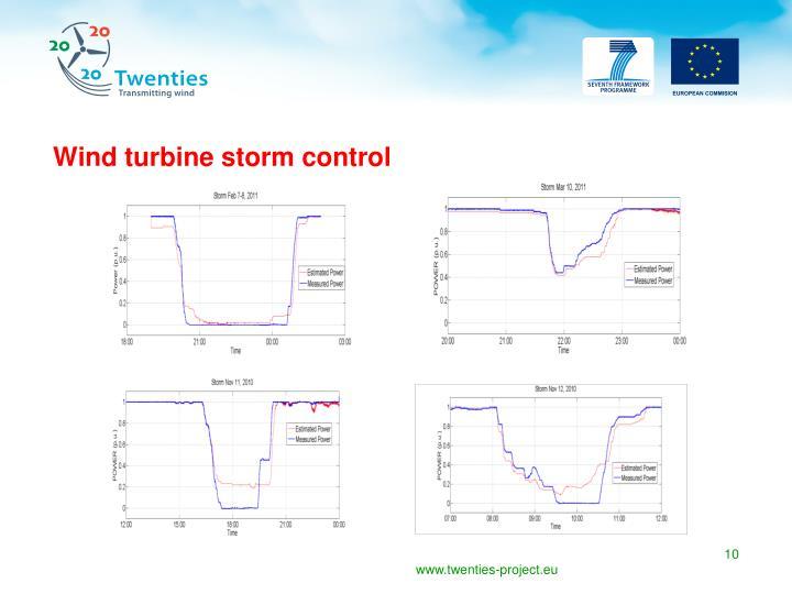 Wind turbine storm control