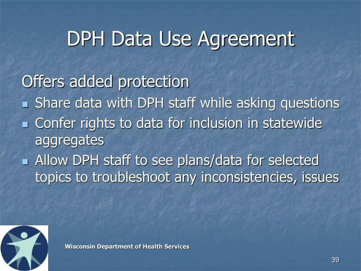 DPH Data Use Agreement