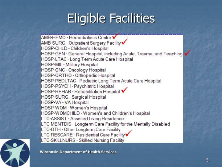 Eligible Facilities