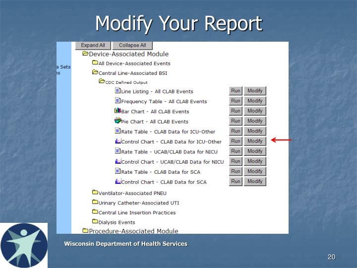 Modify Your Report