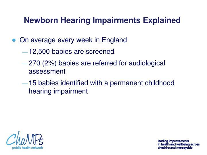 Newborn Hearing Impairments Explained