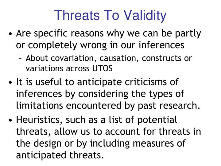 Threats To Validity