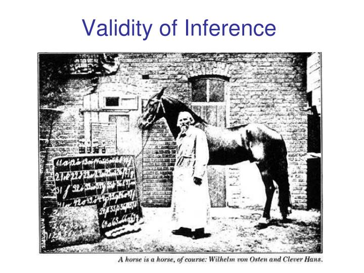 Validity of inference