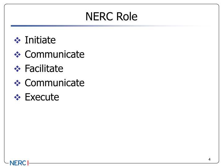 NERC Role