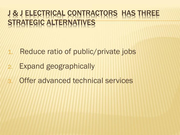 Reduce ratio of public/private jobs